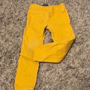 Mustard colored jeggings